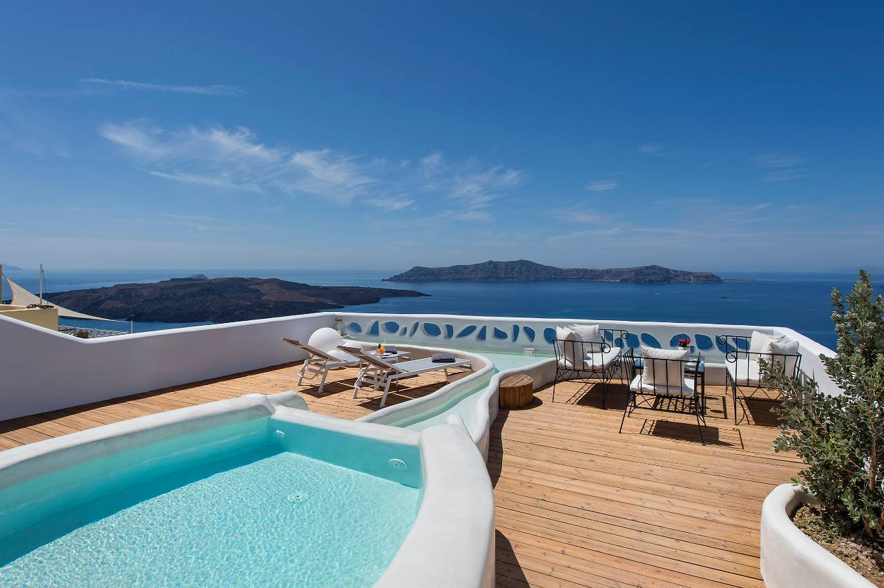athina suites hotel santorini insel 5 sterne luxushotels. Black Bedroom Furniture Sets. Home Design Ideas