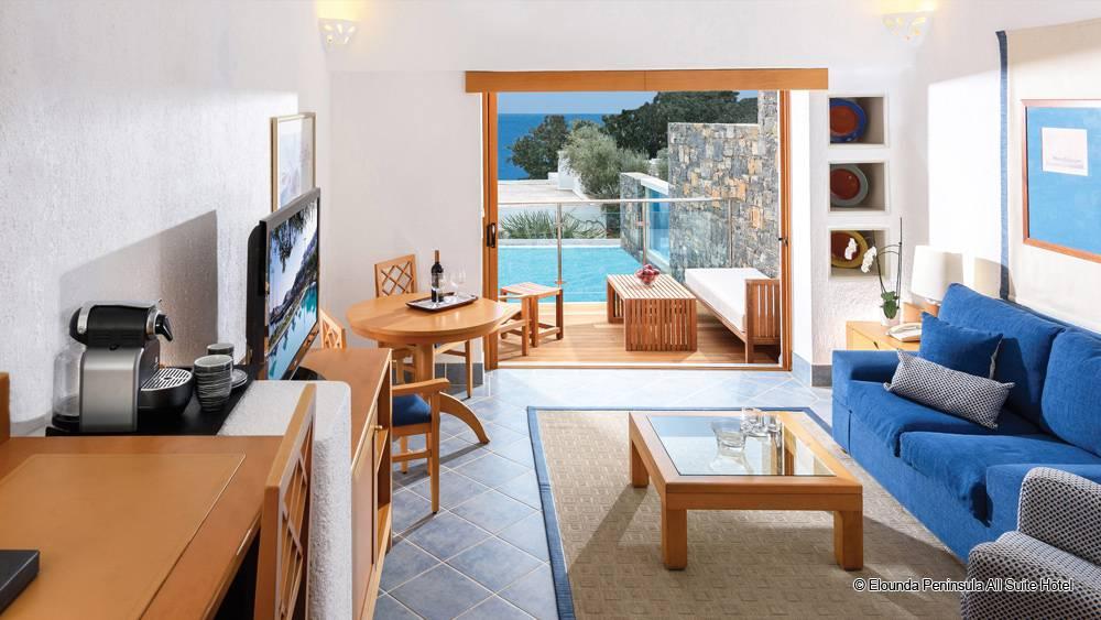 elounda peninsula all suite hotel kreta 5 sterne luxushotels. Black Bedroom Furniture Sets. Home Design Ideas